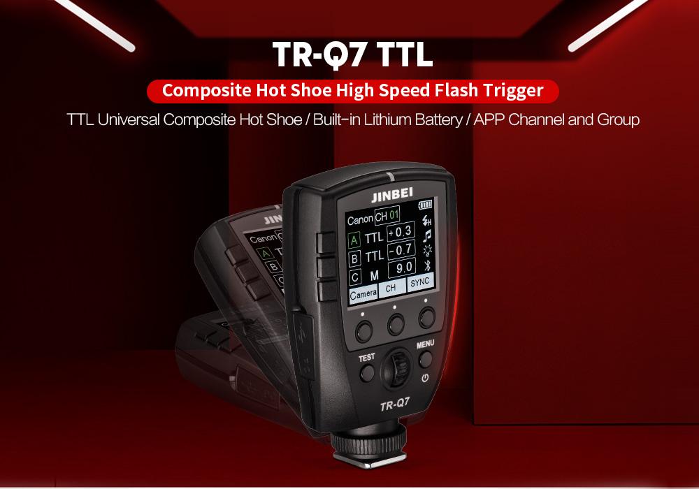 JINBEI 2019 New Nhiếp Ảnh Ánh Sáng Đèn Flash Phụ Kiện TR-Q7 Đa Đèn Flash HSS TTL Kích Hoạt Transmitter