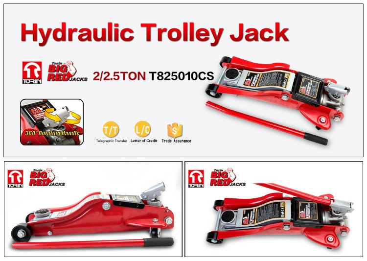 Tongrun Torin 2.5ton Car Jack low profile 360 rotary handle,89-359mm,2t CE certify T825010C
