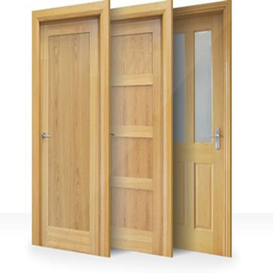 Good quality kerala swing interior finished flat panel teak wood main door designs