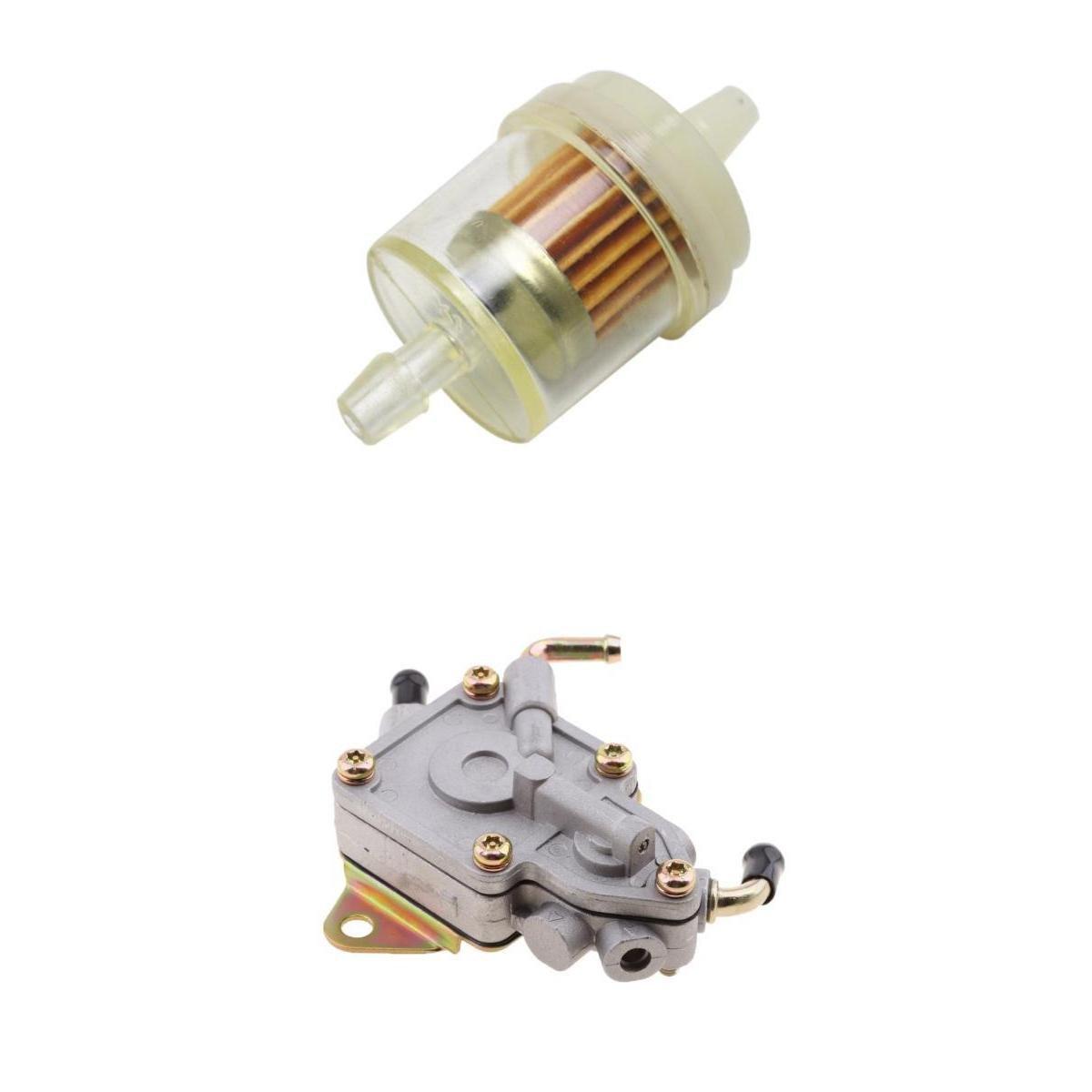baoblaze fuel pump + filter for yamaha rhino 450 660 utv 5ug-13910-01