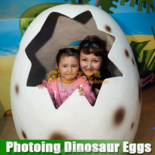 Electrical natural shape amusement equipment growing dinosaur eggs