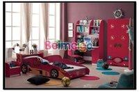 Kids Bedroom Set Red Color Kids Bedroom Furniture for Boy&Girl 350#