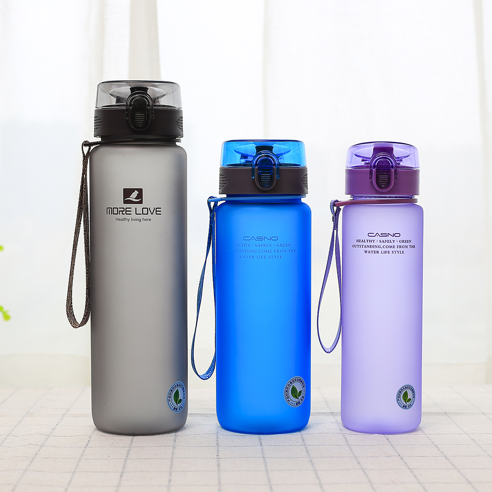 Drinkware 560 ml 800ml 1000ml plastic water bottle with rope direct drinking for adults <strong>sport</strong>