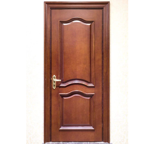 carved design front main exterior double wood door with Fire-resistant function