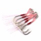 Size 10 to Size 20 Origin jig assist hook boat jig fishing feather rope hook overweight leader fishing hook