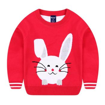 434fb62ce179ff Korean Style Long Sleeves Rabbit Little Girls Sweater Design For Kids