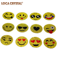 LOCACRYSTAL Brand Headwear Accessories Crystal Strass Applique Rhinestone Iron On Transfer