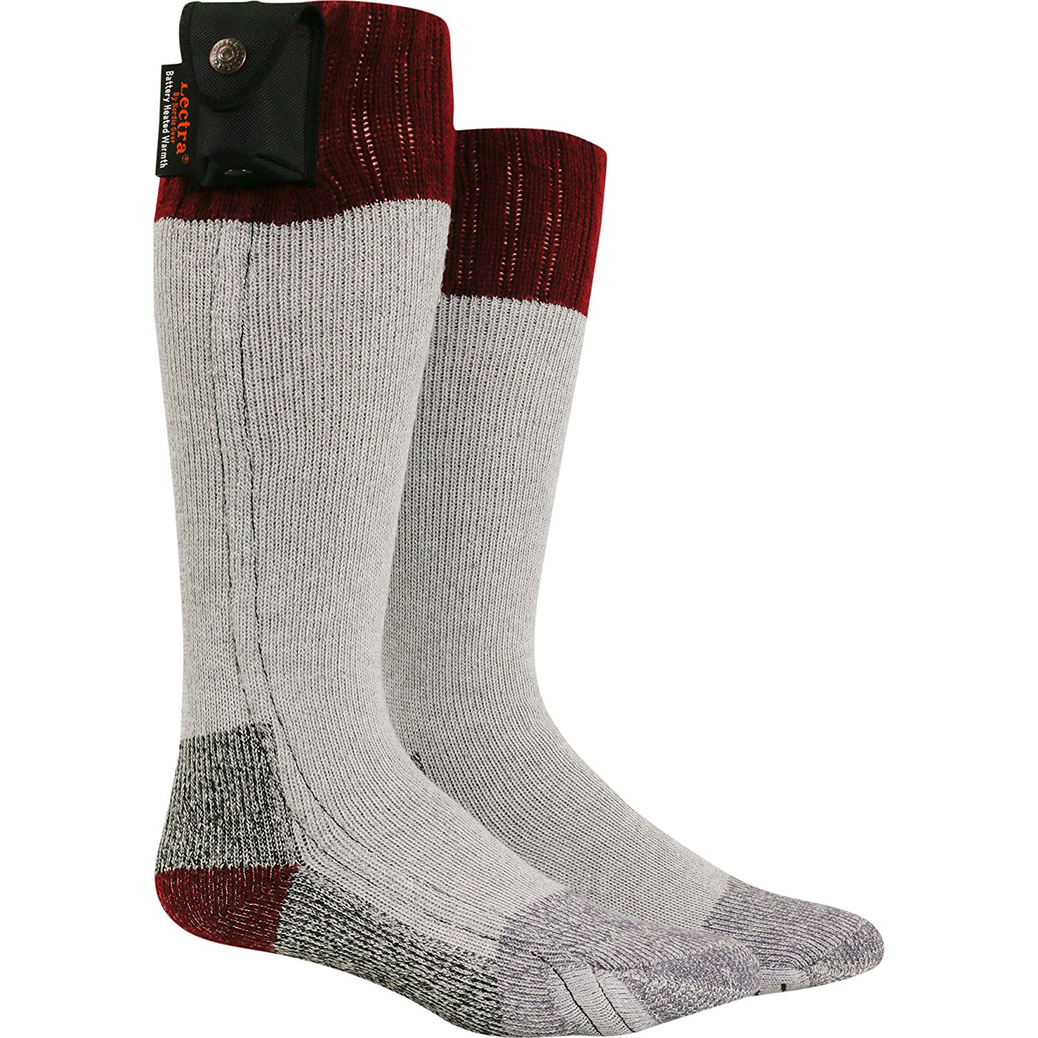 eb924772e4 Get Quotations · Turtle Fur Lectra Sox Hiker Boot Socks, Electric Battery  Heated Socks