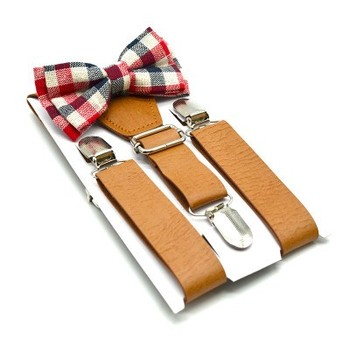 Fashionable Designer Kids Boy Baby Suspenders And Bow Tie