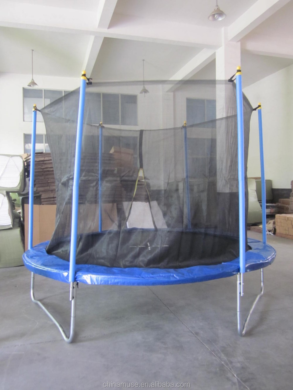 61ab20f78d1fb Garden Furniture 10FT trampoline with outside safety net enclosures outdoor  trampoline in 3 legs in park