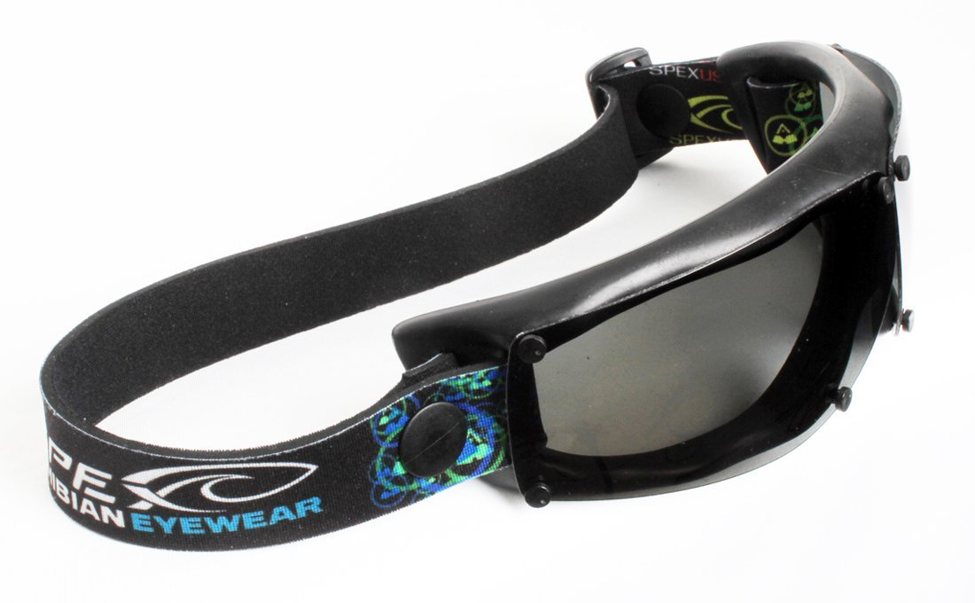 Spex Amphibian Eyewear BLACK with All WEATHER Polarized Lenses. Made in USA. Float. 100% Uv Protection. Spex Are Ideal for all water sports. Protect 2 of Your Most Valuable Assets...Your Eyes.