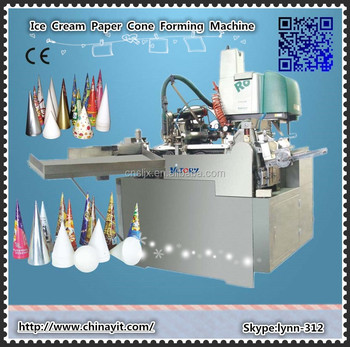 China Manufacturer automatic ice cream paper cone machinery