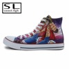 cow boy printed upper rubber sole canvas shoes