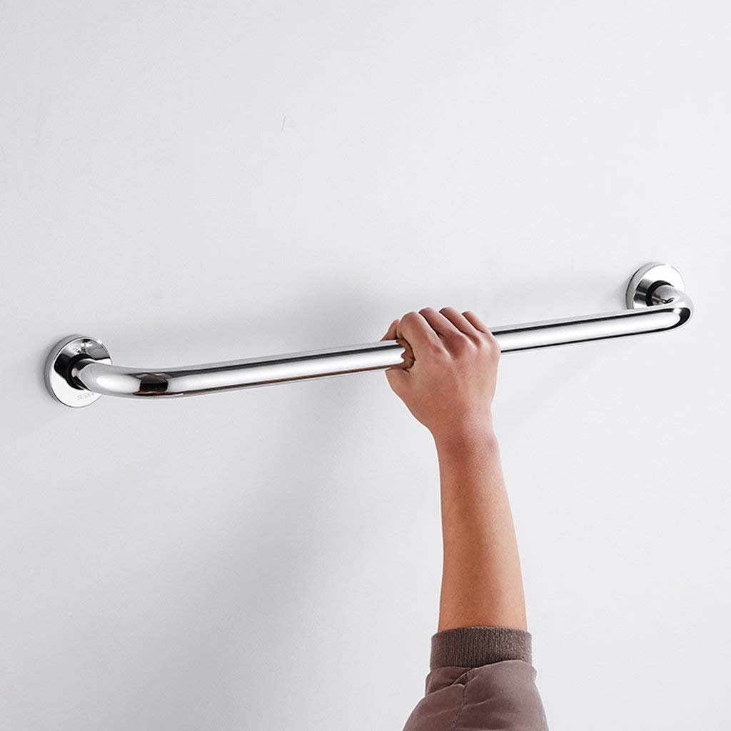 Shower Grab Bars Perforated 304 stainless steel handrails bathtub handrails elderly bathroom handles bathroom toilet handles disabled handrails bathroom accessories towel racks (Size : 56.2cm)