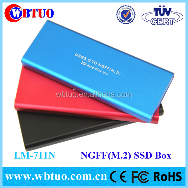New Arrival M.2 (NGFF) SSD to USB 3.0 External Enclosure Case