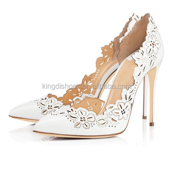 Lujo Corte Novia Láser Alto Moda Las Tacones 2018 De Mujer Blanco Zapatos Buy Tacón Señoras b76fgvyIY