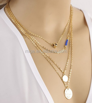 Factory supply multi layer gold chain pendant necklace for girls factory supply multi layer gold chain pendant necklace for girls n2777 aloadofball Images