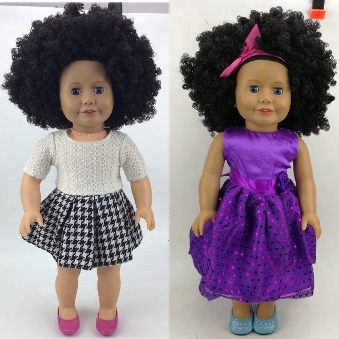 Factory price 18 inch Afro hair American girl <strong>doll</strong> with LOW MOQ