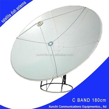 C Band 1.8m,8ft Prime Focus Satellite Dish Antenna