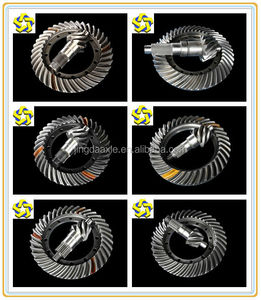 The original factory produces and sells Yutong xugong SANY spare parts crown wheel and pinion gear bevel gears