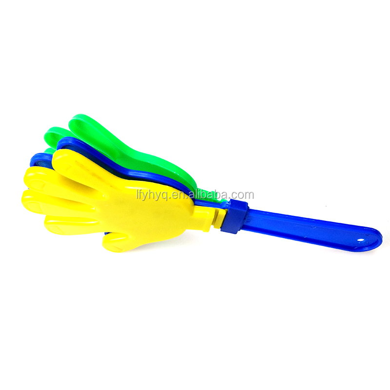 Cheap football fan clapper plastic hand clapper
