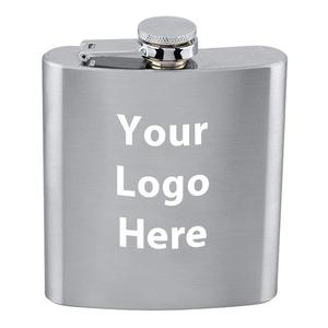 Custom Personality Customized Logo 6 Oz. Stainless Steel Flask