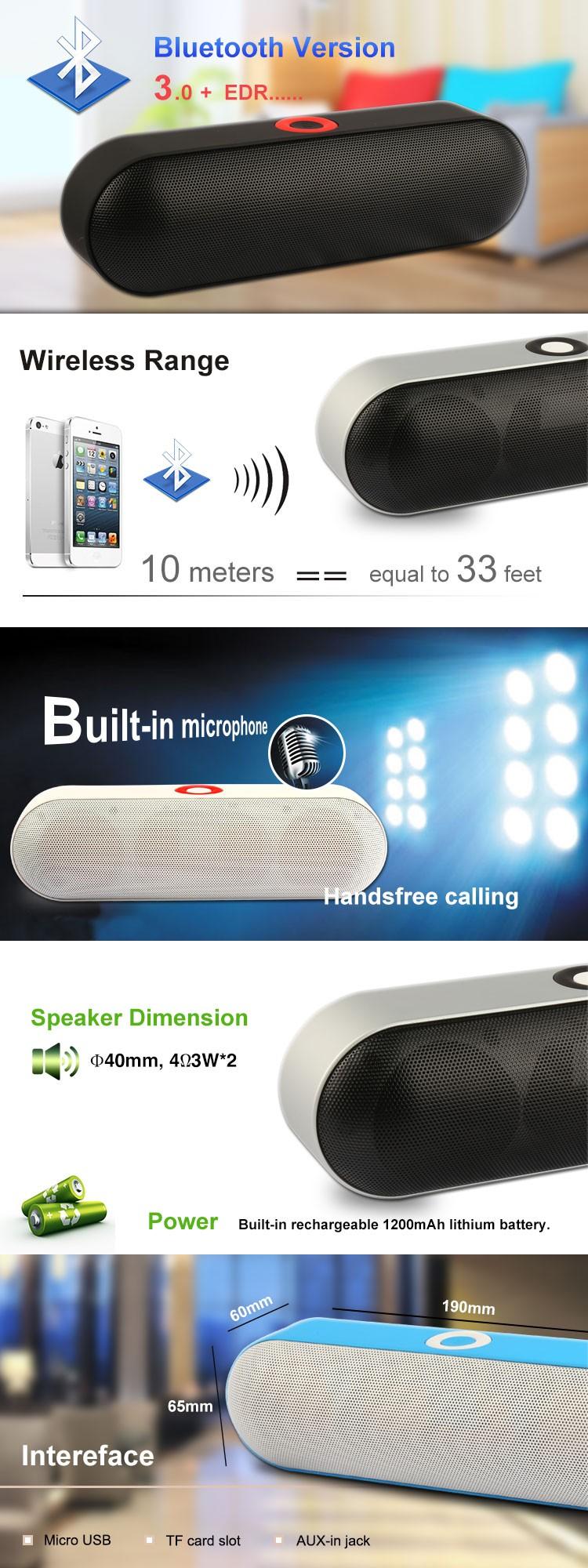 Nby18 Pill Portable Bluetooth Mini Speaker With Fm Radio