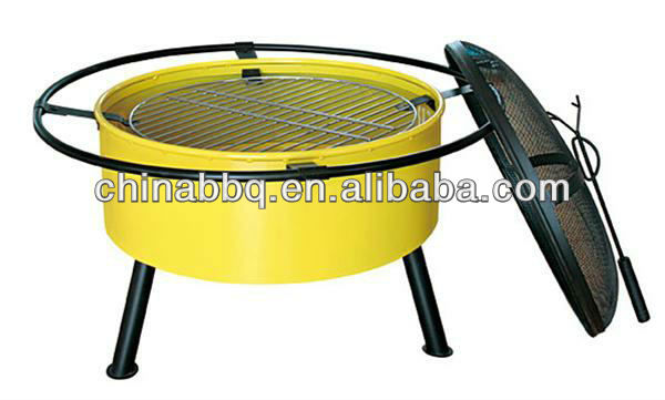 "charcoal barbeque grill 24"" fire pit"