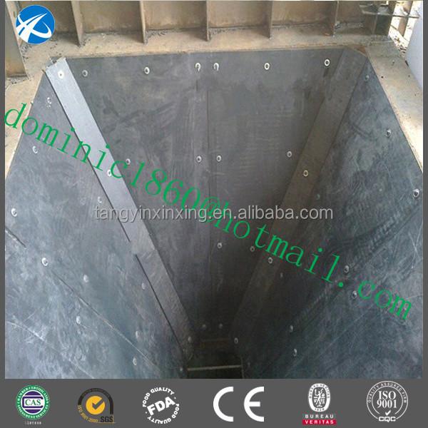 Uhmw Pe Chute Bunker Truck Bed Liner Coal Bin Liner Hopper
