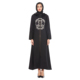 Zakiyyah N201801 Newest Muslim Abaya Kaftan Open Front with Zip Islamic Prayer Dress for Women