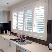 Factory Direct Sale Wood and PVC Vinyl Plantation Interior Shutters
