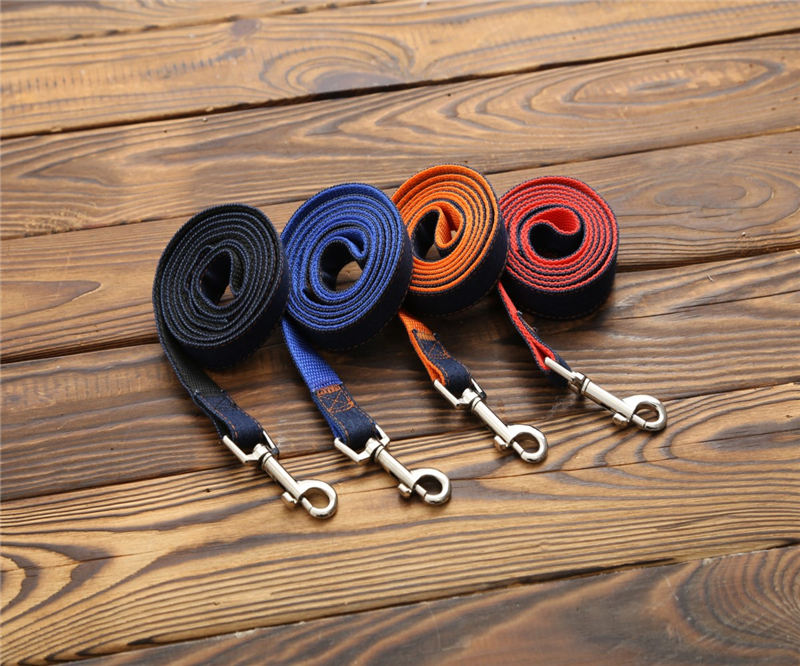 High Quality 120cm Long Fashion Denim & Nylon Rope Dog Leash Black/Red/Blue Jean Puppy Dog Collar+Harness+Leash Sets Pet Product