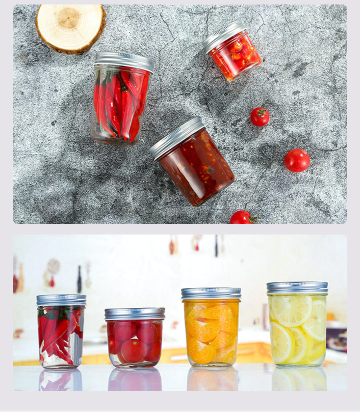 WeVi mason cookie food airtight jar storage honey and candy glass jar with lid custom