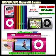 5th Gen. Built-in 8GB Memory (Virtual 32G) Ultrathin 2.2″ LCD Screen MP3/MP4 Player FM Video+Camera,LOGO for iPod,Crystal Box