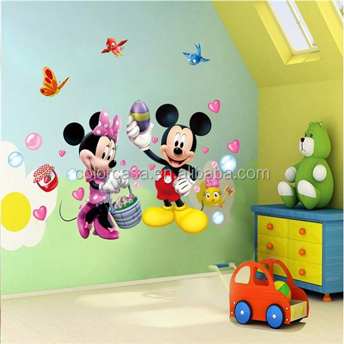colorcasa MQ007 gift Disney Mickey sticker cartoon character kids room decor