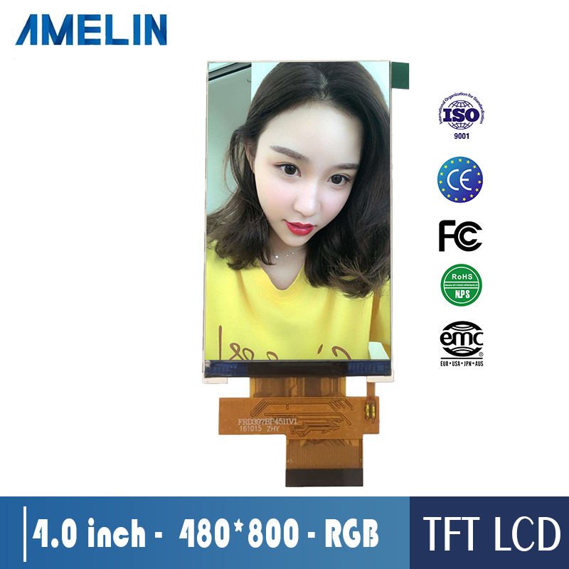 4 인치 TFT LCD module 480*800 lcd 스크린 IPS RGB Interface graphic 색 lcd display