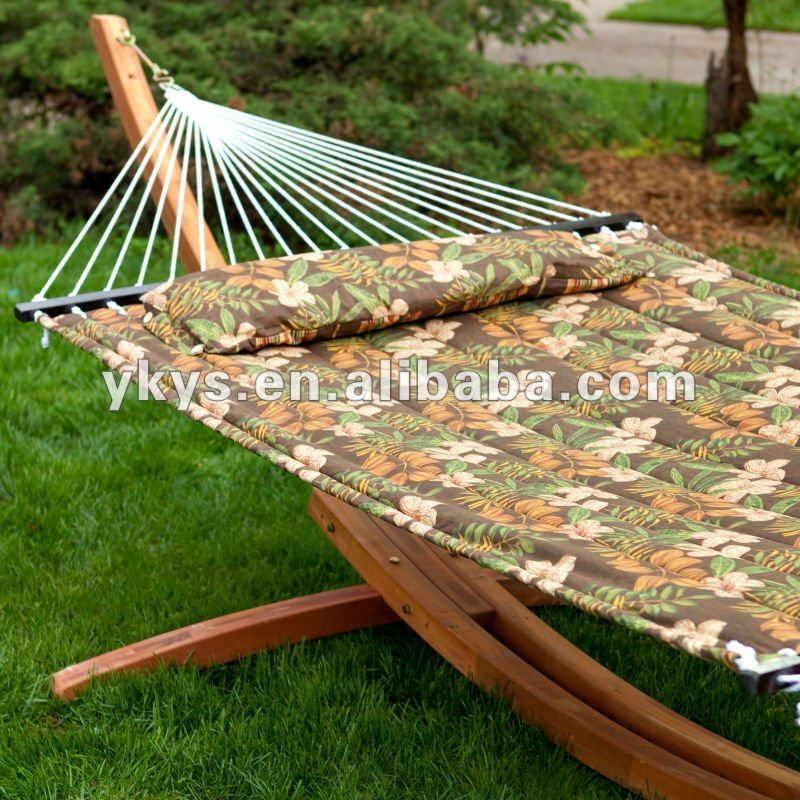 200*150 Quilted Hammock With Wooden Arc Hammock Stand
