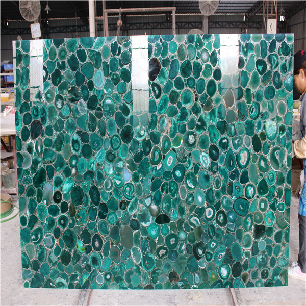 Semiprecious Stone Slabs Large Green Agate Stone Slab