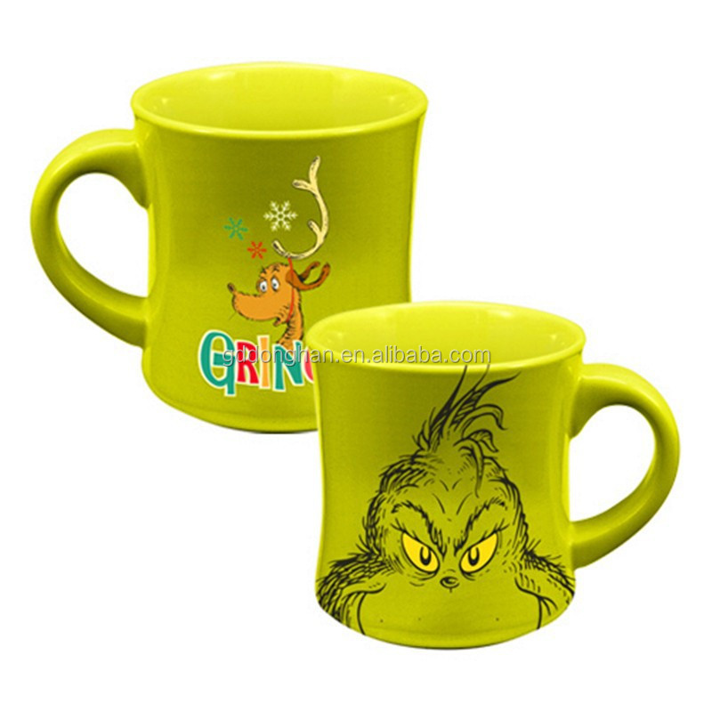 high quality factory sale glazed Dr. Seuss Grinch Holiday 12 oz. Ceramic Mug