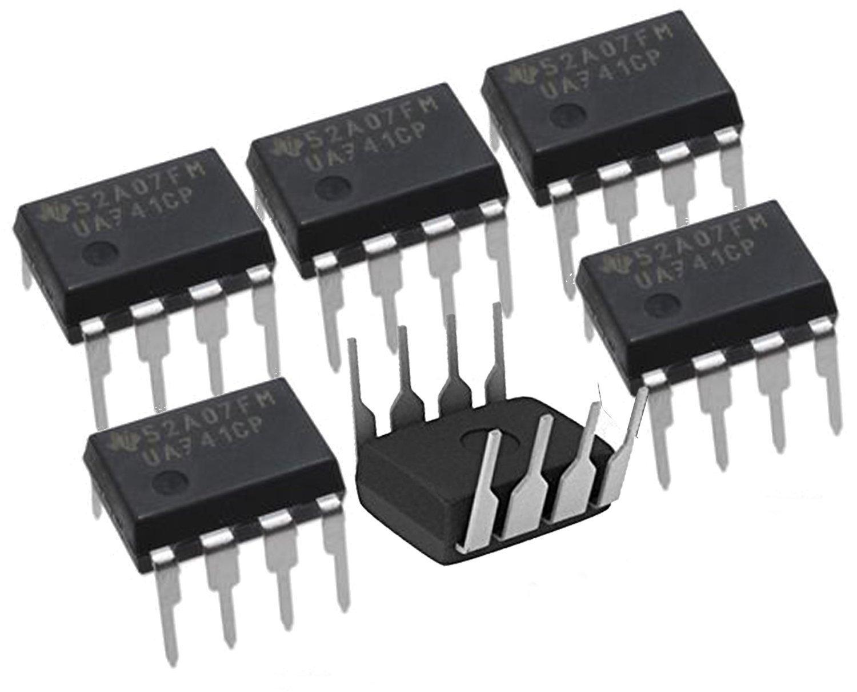 Texas Instruments (( 6 Pieces )) UA741CP IC OPAMP GP 1MHZ SGL LP 8DIP 741 UA741, IC OPAMP GP 1MHZ 8DIP, Linear - Amplifiers - Instrumentation, OP Amps, Buffer Amps