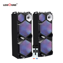 "12"" /15"" portable karaoke party active pair dj speaker with wirelss microphone"
