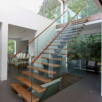 Rubber Stair Treads Residential Mono Stringer Stairs