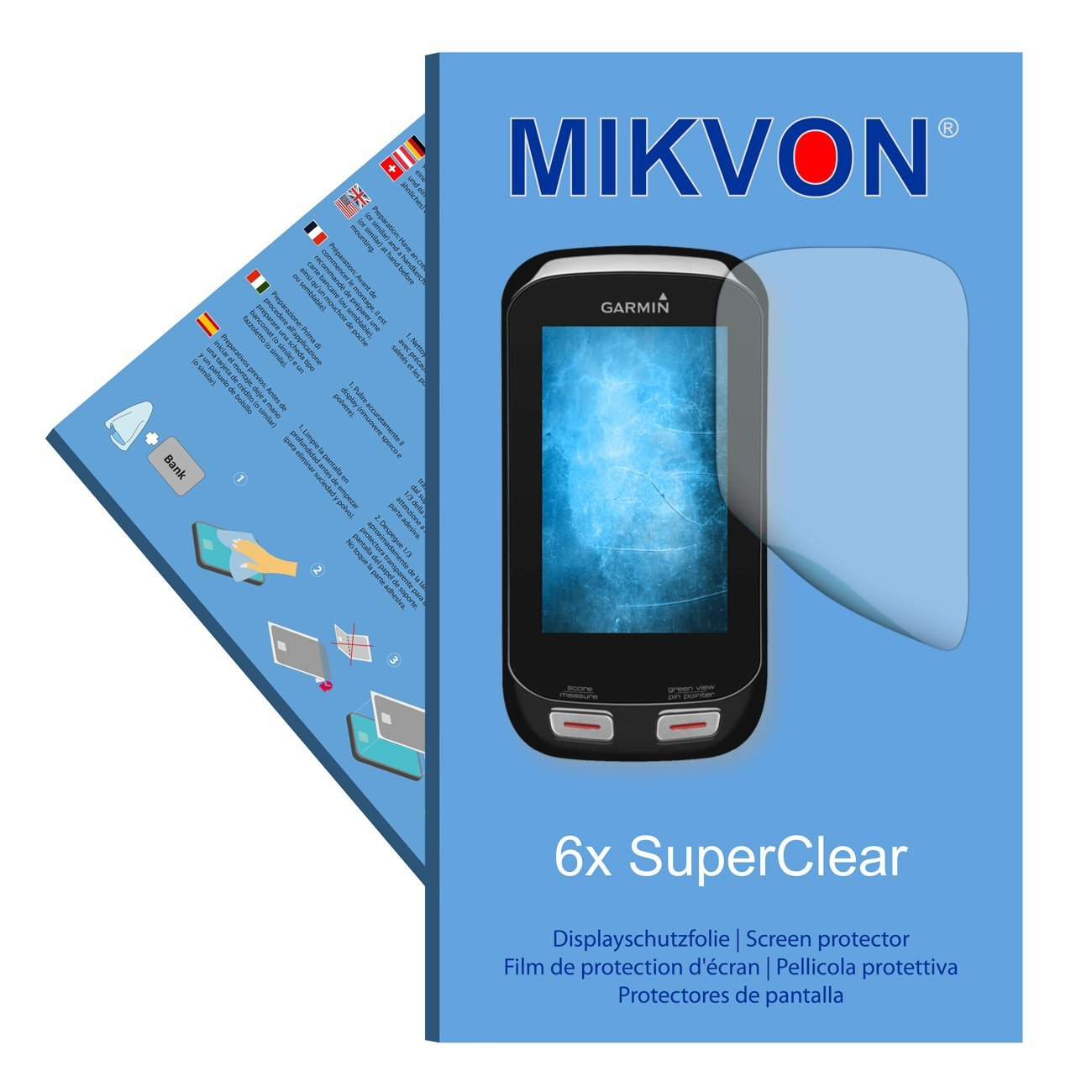 6x Mikvon films screen protector SuperClear for Garmin Approach G8 - transparent - Made in Germany