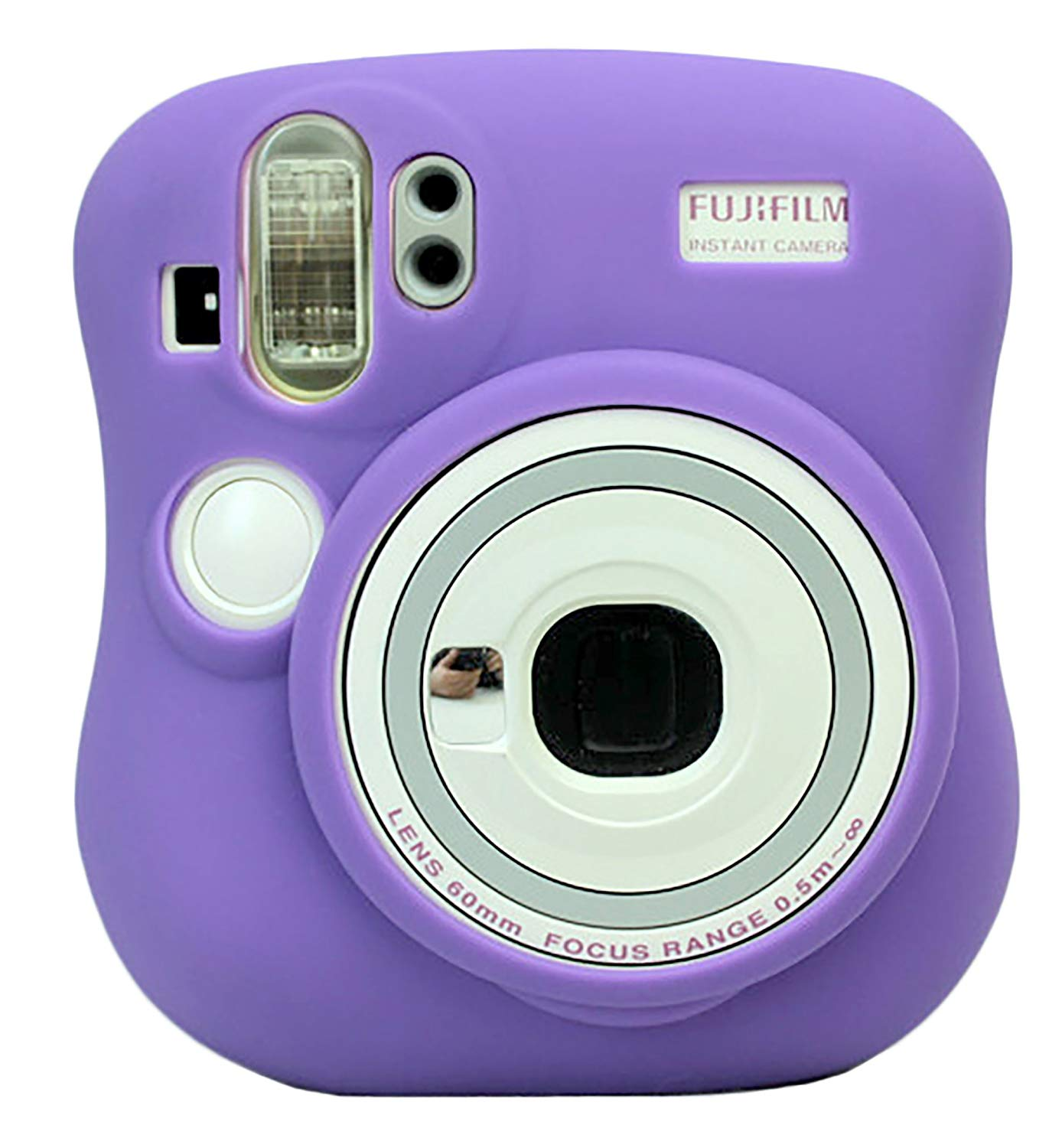 Protective Silicone Gel Rubber Soft Camera Case Cover Bag For Fujifilm Fuji Instax Mini 25 Camera Purple