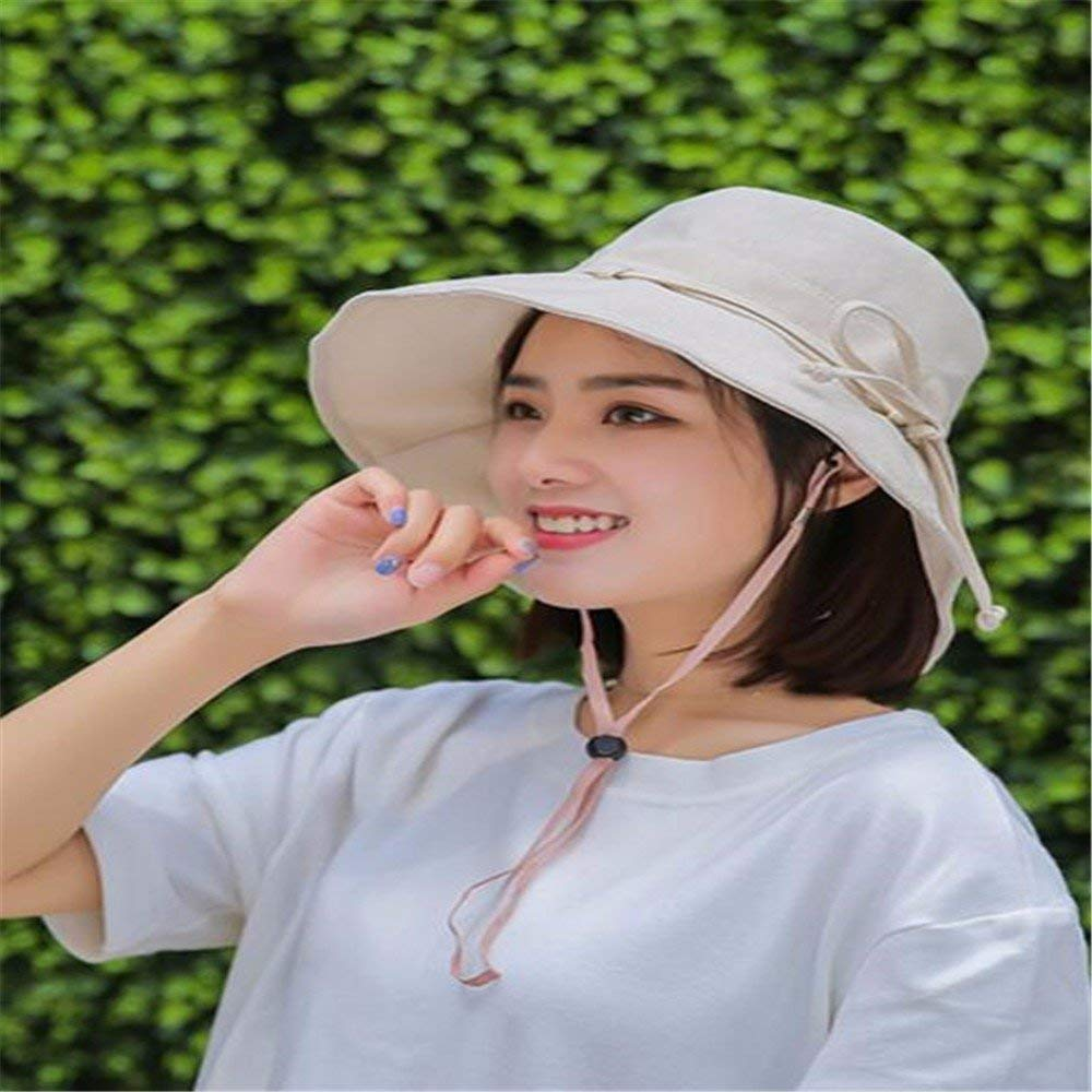 fa300a8bc31ca6 Get Quotations · LIZHONG-SLT Hat, woman, summer, sun hat, folding, UV  protection