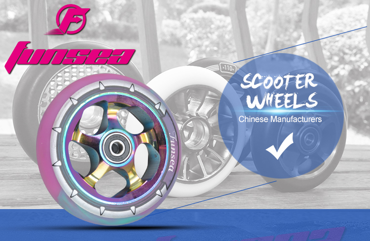 Freestyle street extreme kick scooter cheap hotsale parts trick alloy scooter wheels 110mm wheel one wheel scooter