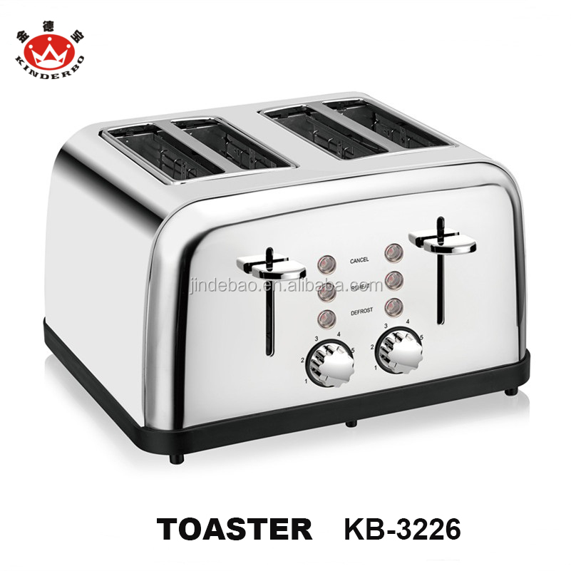 2018 Latest Design Factory Supply 4 Slices Pop Up Stainless Steel Toaster