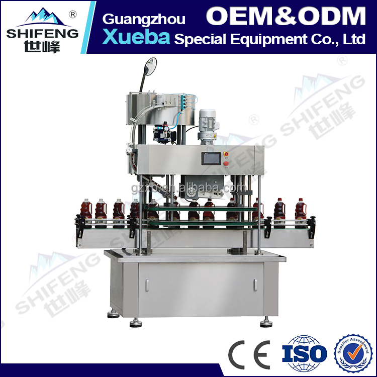 SFYG-120 Automatic crawler auto capping machine bottle capping tool