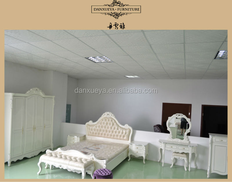 French Reproduction Bedroom Sets Furniture,White And Silver King ...