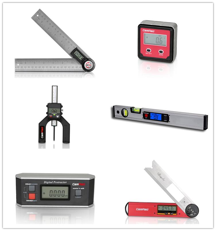 GemRed 500mm Steel Multi Woodworking Hand Tools Digital Adjustable Protractor Rule Ruler Angle
